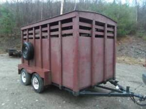 Homemade Livestock Trailer Live Stock Cattle Sheep Pigs Goats Horse Animal Farm