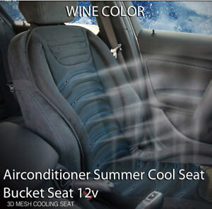Airconditioner Summer Cool Seat Bucket Seat 12v Cushion Wine For All Vehicle