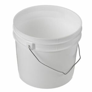 1 Gallon Plastic Bucket pail With Cover Lot Of 25