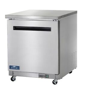 Commercial Kitchen Single Door Undercounter Refrigerator 28