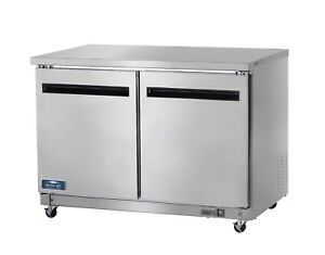 Commercial Kitchen 2 Door Undercounter Refrigerator 49