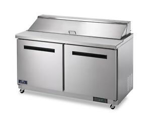 Commercial Kitchen Refrigerated Sandwich Salad Prep Table 62
