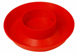 36 Pk Red Plastic 6 Dia 1 1 2 High Screw On Poultry Chicken Waterer Bases 740