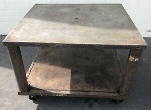 36 X 40 Welding Table Layout Work Cart Mobile Warehouse Industrial