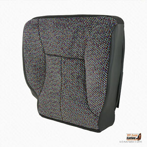 2001 Dodge Ram 1500 2500 3500 Slt Driver Side Bottom Dark Gray Cloth Seat Cover