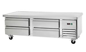 Commercial Kitchen Refrigerated Chef Base 74 With 4 Drawers