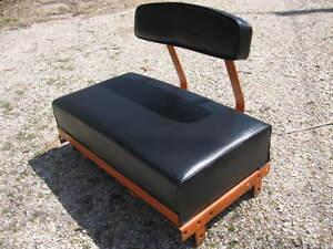 Allis Chalmers B c Seat back Cushion Set Smooth Black