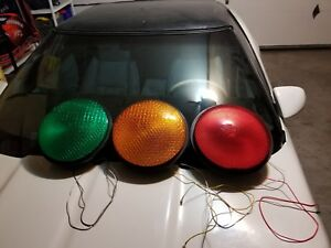 Leotek Yellow red green Lot Led Traffic Signal Light Set Insert 12 With Gasket