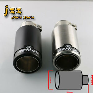 Double Wall Brushed Stainless Steel Black Vehicle Remus Exhaust Tail Pipe