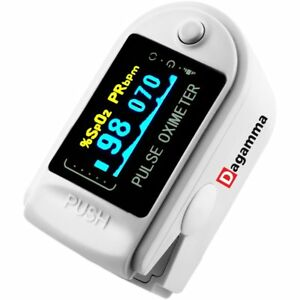 Finger Pulse Oximeter Oxygen Rate Blood Pressure Lcd Screen Monitor With Case Us