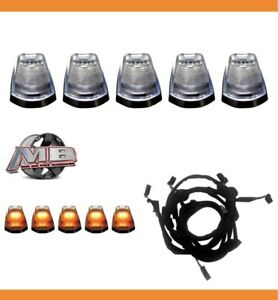 Clear Lens Amber Led Cab Roof Lights 5pc 17 18 Ford F250 F350 Super Duty Wiring