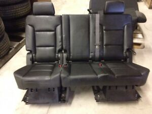 2015 2018 Chevrolet Suburban 2nd Row Rear Bench Seat In Black Vinyl