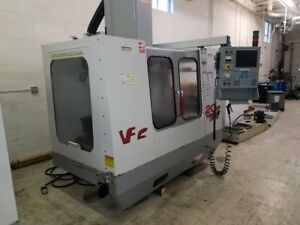 Used Haas Vf 2 Cnc Vertical Machining Center Mill Vmc 30x16 4th Axis Ready 2000