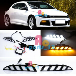 Led Daytime Running Light Drl Turning Signal For Volkswagen Scirocco R 2010 2014