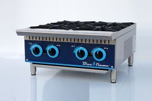 Commercial Kitchen 24 Gas Hot Plate Range 4 Burners