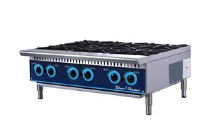 Commercial Kitchen 36 Gas Hot Plate Range 6 Burners