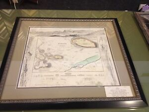 Map Plan Greece Athens Decorative Large 1832 Archival Framed Original
