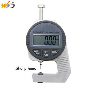 Portable Precise Digital Thickness Gauge Meter Tester Micrometer 0 To 12 7 Mm