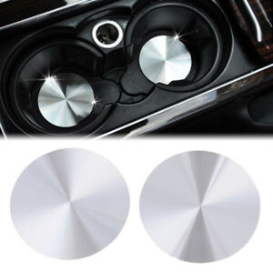 2pcs Cup Holder Cover Mat Trim For Range Rover Sport Vogue Discovery Universal