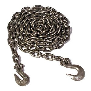 Koch A05292 3 8 By 14 feet Log Chain Grade 43 With Grab And Slip Hooks Self