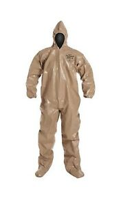 Dupont C3122ttnxl000600 Tychem Cpf3 Chemical Nbc Chem Suit W hood