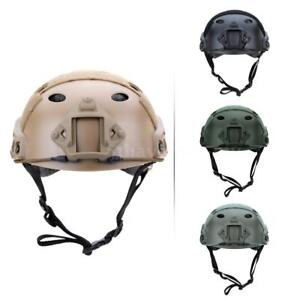 Military Tactical Helmet Outdoor CS Airsoft Paintball Base Jump Protective W6V7