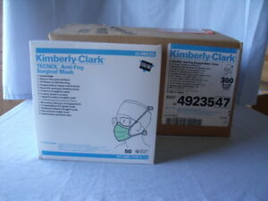 Kimberly clark 49235 Anti fog Surgical Mask Green Box Of 300 H8