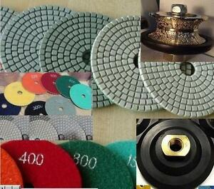 1 2 Inch V shape Full Bullnose Router 5 Polishing Pad 9 1 Stone Concrete Edge