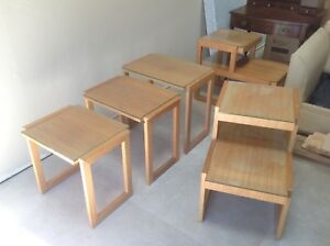 Real Mid Century Furniture Suite By Paul Laszlo Incl Rare Settee And Tables