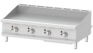 Commercial Kitchen Countertop Thermostatic Control Gas Griddle 48