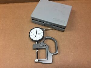 Mitutoyo Dial Thickness Gauge Caliper Gage 7312 2412f Machinist Testing Tool
