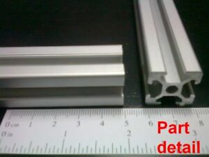 Aluminum T slot Extruded Profile 20x20 6mm L100 200 300 400 Or 500mm 4pieces