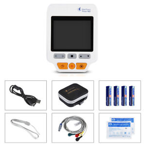 180d Color Data Management Portable Ecg Monitor With Lead Cables 50electrodes