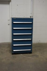 Used Kennedy 6 Drawer Cabinet 51 Inch Tall Industrial Tool Storage 1202 Vidmar