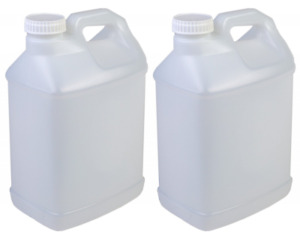 New Hudson Exchange 2 5 Gallon Hedpak Container With Cap Hdpe Natural 2 Pack