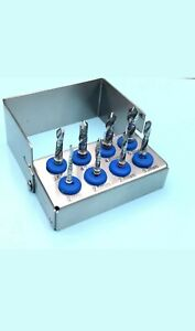 8pcs Dental Implant Drills External Irrigation Polished Stainless