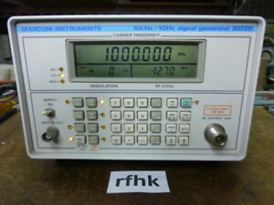 Ifr marconi 2022d Signal Generator In Good Conditions With Cover Completed