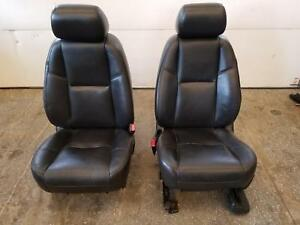 10 11 Cadillac Escalade Yukon Denali Front Leather Power Seats Heated Cooled