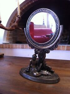 Vintage Vanity Mirror Table Mirror Marked Empire Beautiful Ornamentation