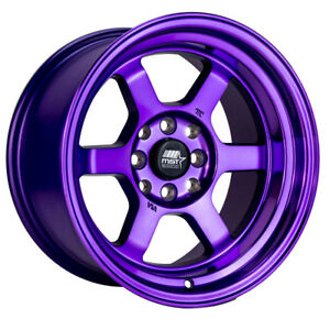 Mst Time Attack 15x8 0 4x100 4x114 3 Purple Miata Civic Integra 240z Ae86 Crx