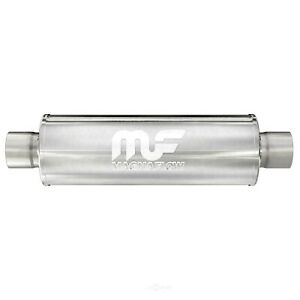 Magnaflow 12865 5 Round Muffler 2 25 Inlet outlet14 Body 20 Length Ss