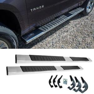 6 01 18 Silverado Sierra Polished Crew Cab Nerf Bars Side Step Oe Running Board