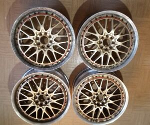 Jdm 17x7 Rays Volk Forged Racing Wheels Gt u Genuine 2 Piece 4x100 Rare