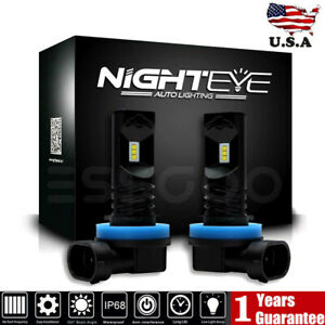 Nighteye H11 H8 160w Led Fog Light Bulbs Driving Lamp Drl 6500k Xenon High Power