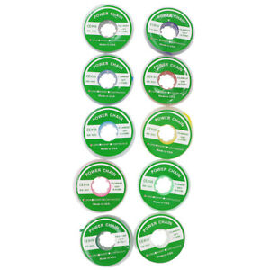 10 Rolls Dental Orthodontic Elastic Ultra Power Chain Long Type 10 Colors