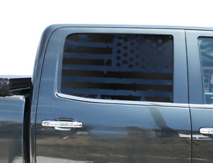 Usa Flag Decals Fits Crew Cab Window 2014 2018 Chevy Silverado Gmc Sierra Gm3