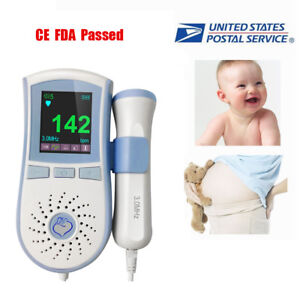 Color Fetal Doppler Blood Flow 3mhz Vascular Probe Baby Sound Beat Meter gel