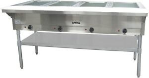 Commercial Kitchen 4 Well Electric Hot Food Steam Table 64