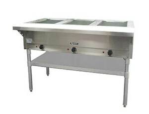 Commercial Kitchen 3 Well Electric Hot Food Steam Table 49