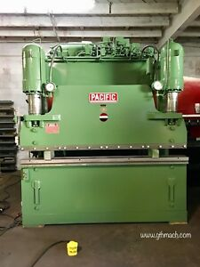 Pacific Hydraulic Press Brake 8 Ft 150 Ton W Power Back Gauge